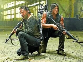 Rick (à esquerda) ainda viverá diversos conflitos com seu grupo