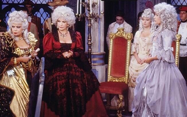 Dercy Gonçalves, Tereza Rachel, Cláudia Abreu e Natália do Valle em cena da novela