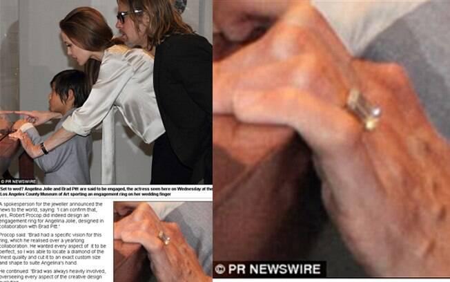 O anel de noivado de Angelina Jolie