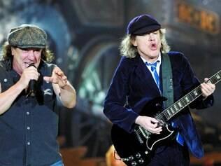 Turnê. Brian Johnson (à esquerda) diz que tão logo o novo disco seja lançado, o grupo deve sair em turnê mundial