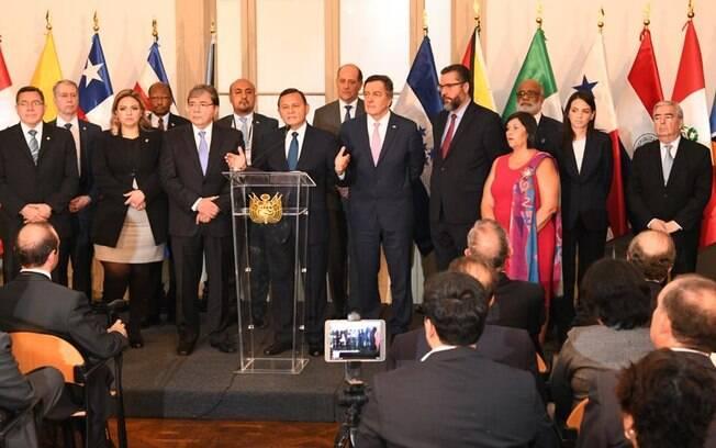 11 países do Grupo de Lima fizeram um apelo às Forças Armadas da Venezuela