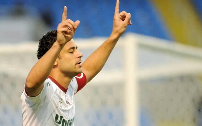 Fred comemora gol no clássico carioca contra  o Botafogo, em julho de 2012