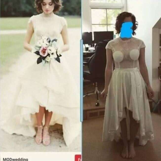 mulher com vestido de noiva