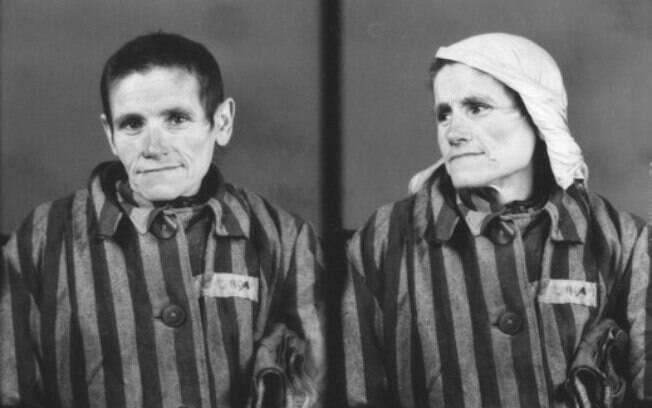 Foto original de Katarzyna Kwoka tirada no campo de Auschwitz, em 1942