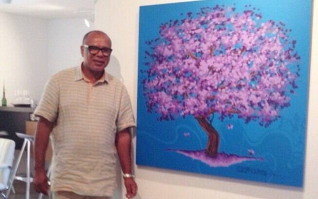 O artista plástico Isaac de Oliveira