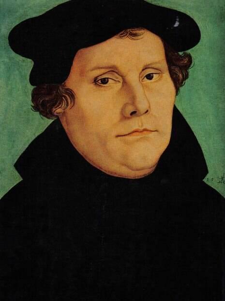 Pintura retrata o pensador Martinho Lutero