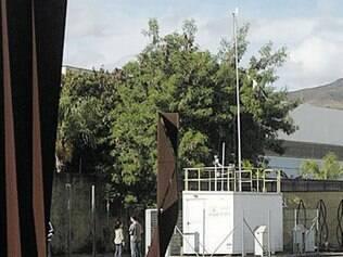 Estação (estrutura branca) foi apresentada ontem pelo vice-prefeito