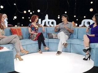 Camila Morgado, Teté Ribeiro e Mônica Waldvogel com Eduardo Moscovis: substituição da atriz