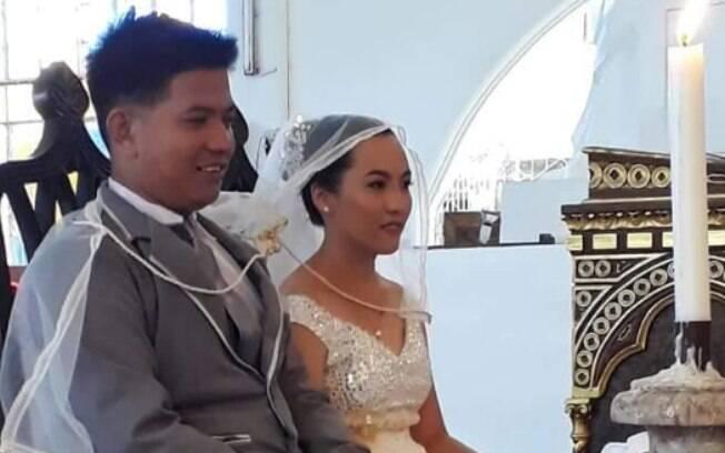 Segundo a noiva, a cerimônia de casamento foi ainda mais significativa por causa do esforço para que o evento acontecesse