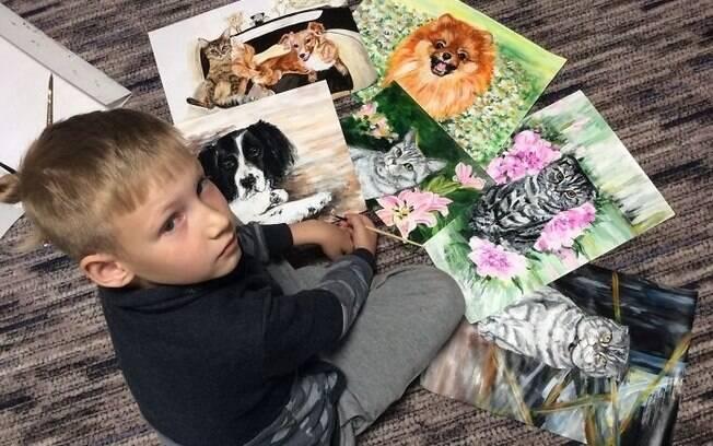 Pinturas de animais abandonados