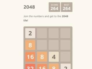 Jogo consiste em unir blocos para formar o número 2048