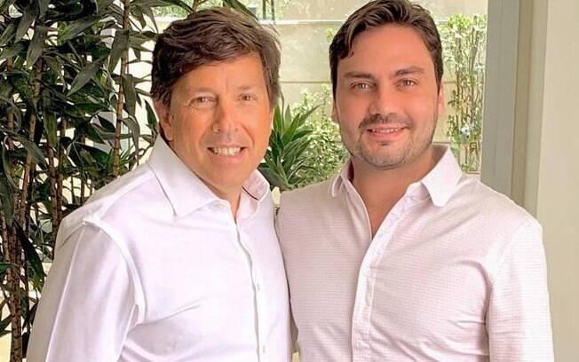 Presidente do partido Novo, João Amêdo, e ex-candidato à Prefeitura de São Paulo Filipe Sabará
