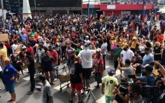 Protesto em Manaus