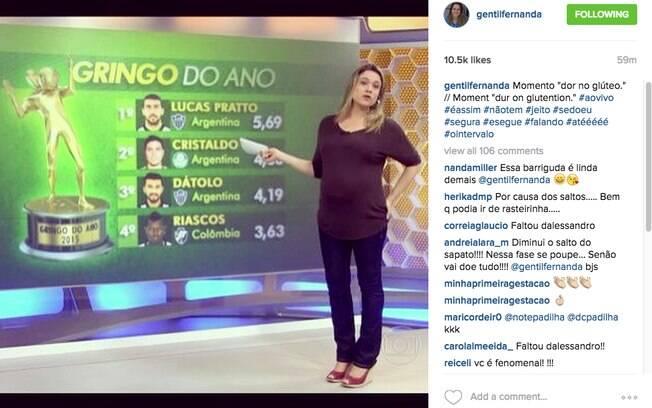 Fernanda Gentil se diverte com posição 'estranha' durante apresentação do Globo Esporte do Rio de Janeiro