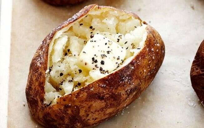 Para o almoço vocês podem fazer baked potato