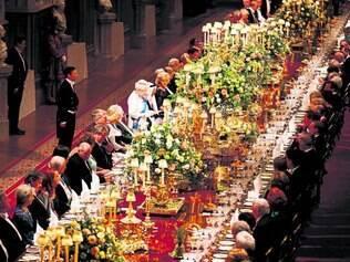Histórico.  Jantar real oferecido ao presidente irlandês marca as boas relações entre os países