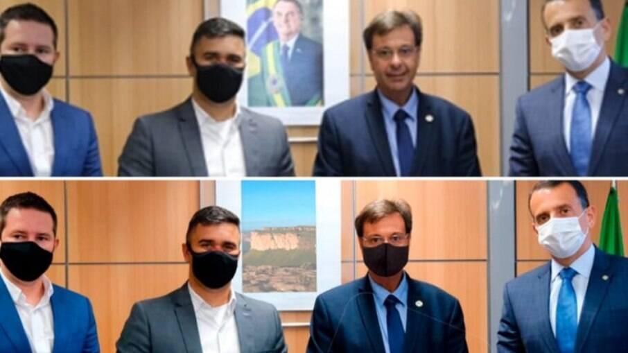 Prefeito de Mogi excluiu Bolsonaro de imagem e colocou máscara em ministro
