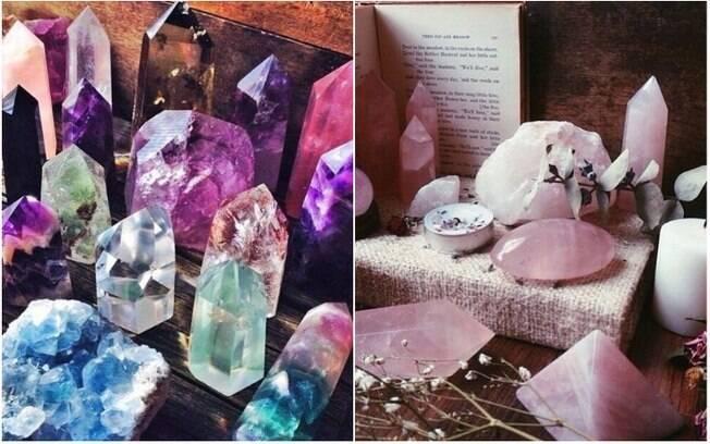 Além de contribuírem com a decoração, há quem acredite que cristais são capazes de filtrar energias