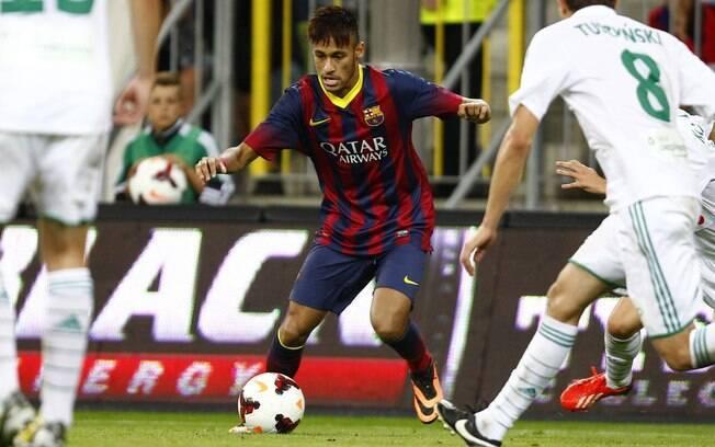 Neymar fez primeiro jogo com a camisa do  Barcelona em um amistoso na Polônia (30/07)