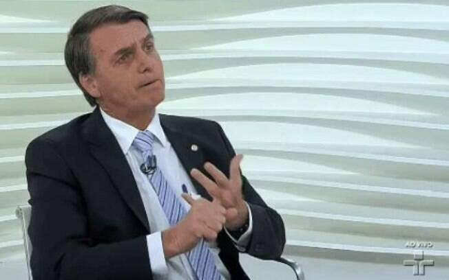 O candidato à Presidência Jair Bolsonaro esteve, na noite desta segunda no Roda Viva, na TV Cultura