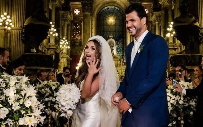 A cerimônia de Nicole Bahls e Marcelo Bimbi foi um dos casamentos dos famosos que aconteceu no Rio de Janeiro