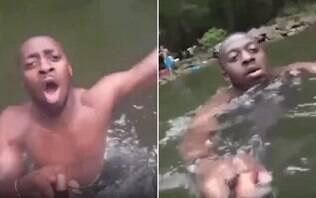 Câmera achada em rio registra últimos momentos de homem morto afogado