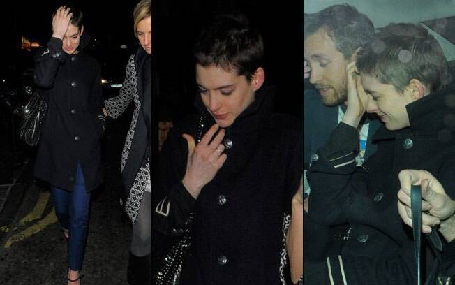 Anne Hathaway com o novo visual