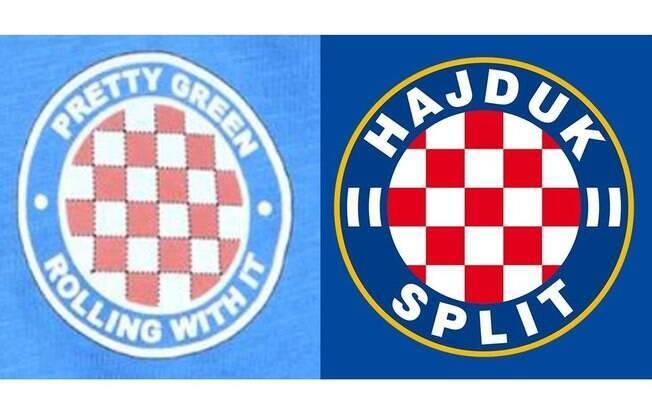 Emblema na marca de Liam Gallagher e o escudo do Hajduk Split. Parecidos?