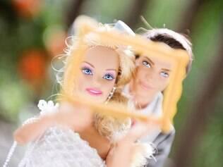Barbie e Ken até brincaram de photo booth