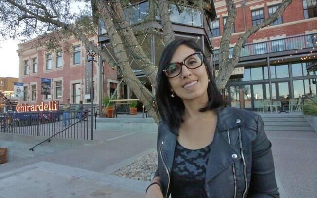 Julia em Ghirardelli Square