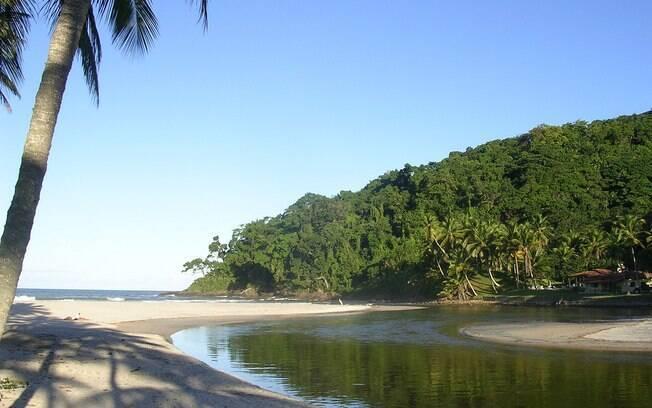A praia é um paraíso pouco conhecido entre os turistas