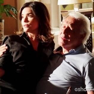Aline insinua que Rebeca traiu Pérsio