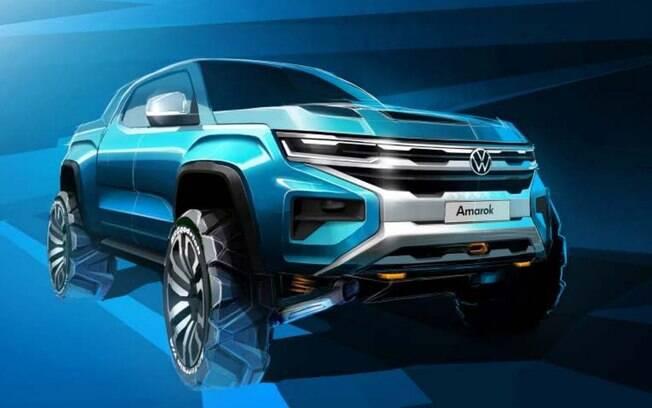 Nova VW Amarok ainda está na fase dos esboços, que por sua vez dará início ao desenvolvimento do conceito