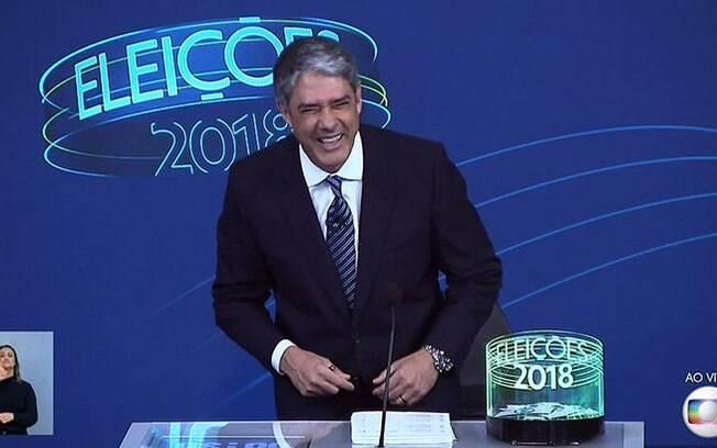 William Bonner no debate da Globo entre os presidenciáveis