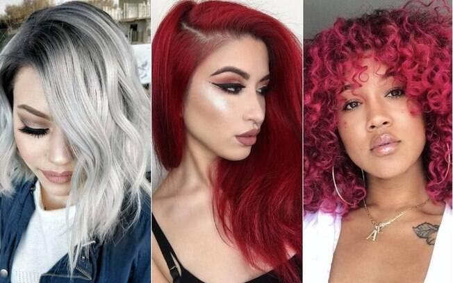 As cores cinza, vermelho e rosa estão entre as principais escolhas de dicas de beleza quando o assunto são os cabelos