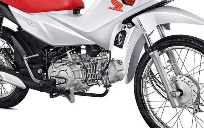 Honda Pop 110i tem motor pensado para ser o mais simples e robusto, para oferecer o melhor custo-benefício
