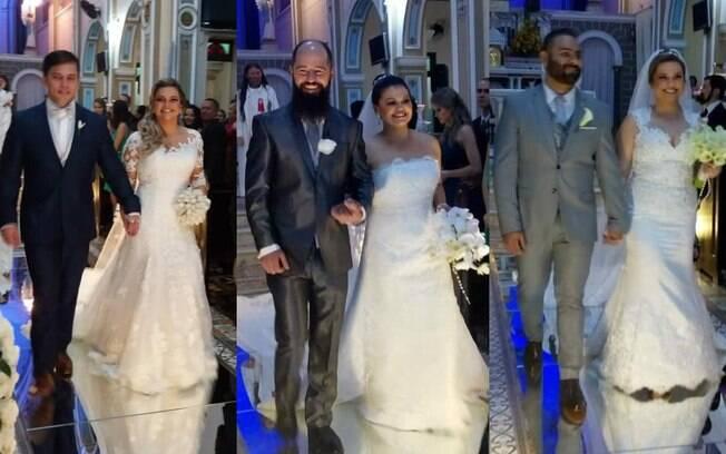 Araceli Maria, Suelen Maria e Éven Maria tiveram um casamento dos sonhos juntas para simbolizar a união das irmãs