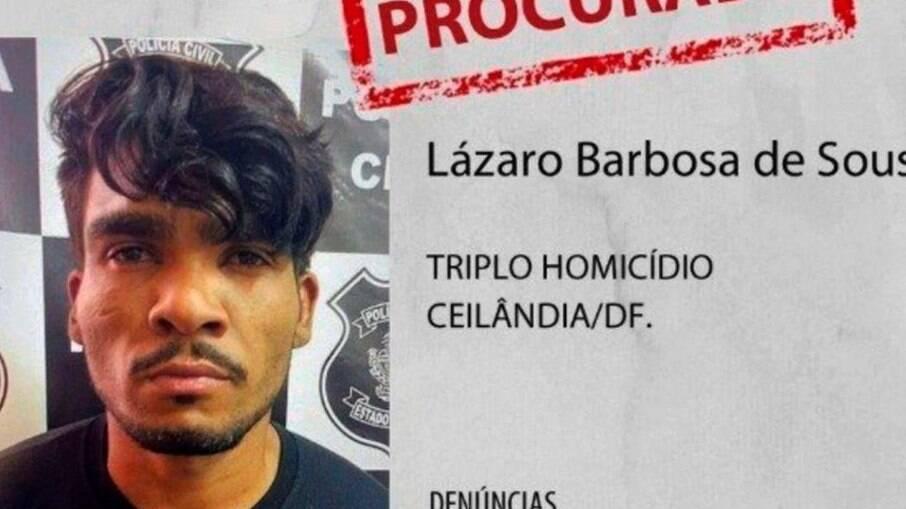 Cartaz de procurado de Lázaro Barbosa