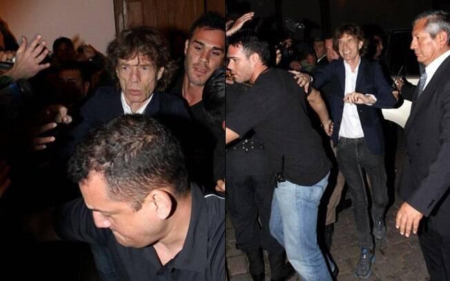 Mick Jagger causa tumulto