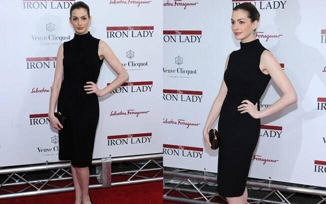 "Anne Hathaway na première do filme ""A Dama de Ferro"""