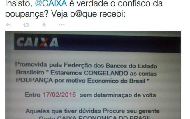 O confisco da poupança virou boato nas redes sociais nesta sexta-feira (13)