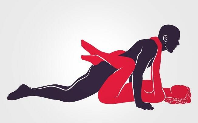 11. POUSO CLÁSSICO: em posição de flexão de braço, ele penetra a parceira, que o envolve com as pernas