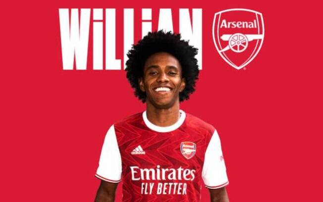 Willian com a camisa do Arsenal