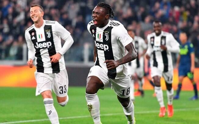 Moise Kean é atleta da Juventus