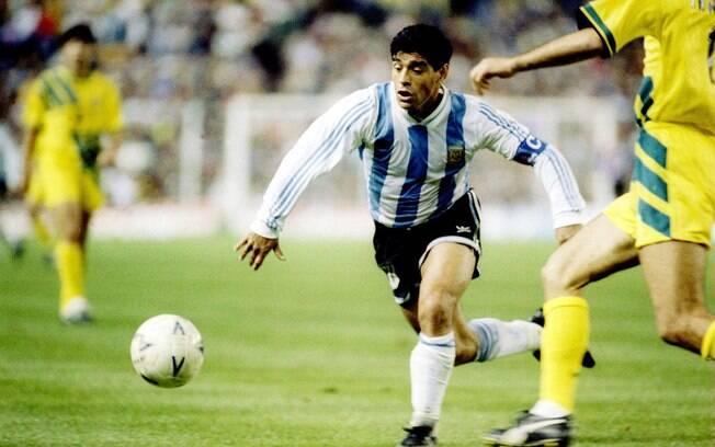 Argentina de Maradona precisou superar a  Austrália na repescagem para ir à Copa de 1994