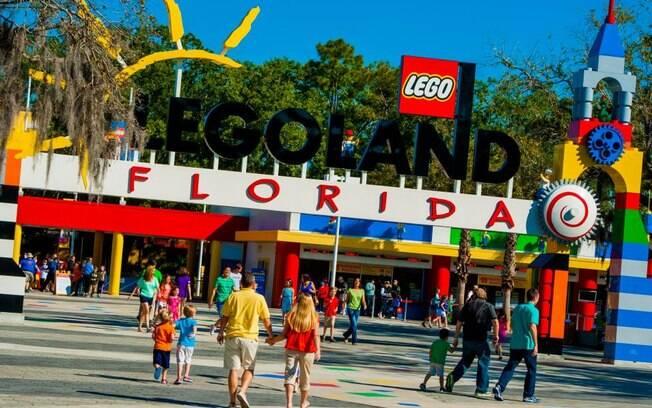 Parque Legoland na flórida antes da pandemia do novo coronavírus