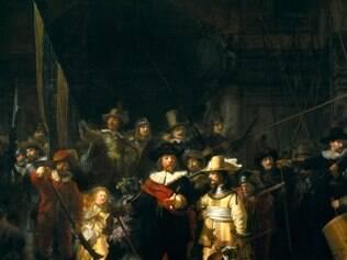 Rembrandt. Obra-prima do pintor holandês ocupa um espaço especial na principal sala do Rijksmuseum, um belíssimo palacete