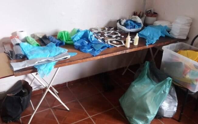 Polícia Ambiental encontra casa que funcionava como 'fábrica de balões' em Campinas