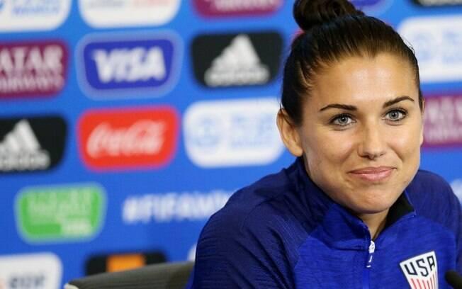Alex Morgan respondeu se a seleção dos Estados Unidos irá comparecer na Casa Branca em caso de título da Copa do Mundo