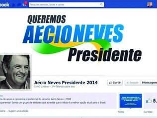 Fake. TSE ordenou retirada de perfil que defende  a candidatura de Aécio. PSDB não tem vínculo com ela